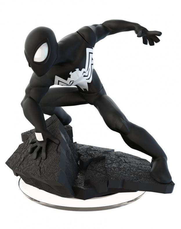 Disney Infinity Marvel  Battlegrounds nuevas figuras Spiderman Black