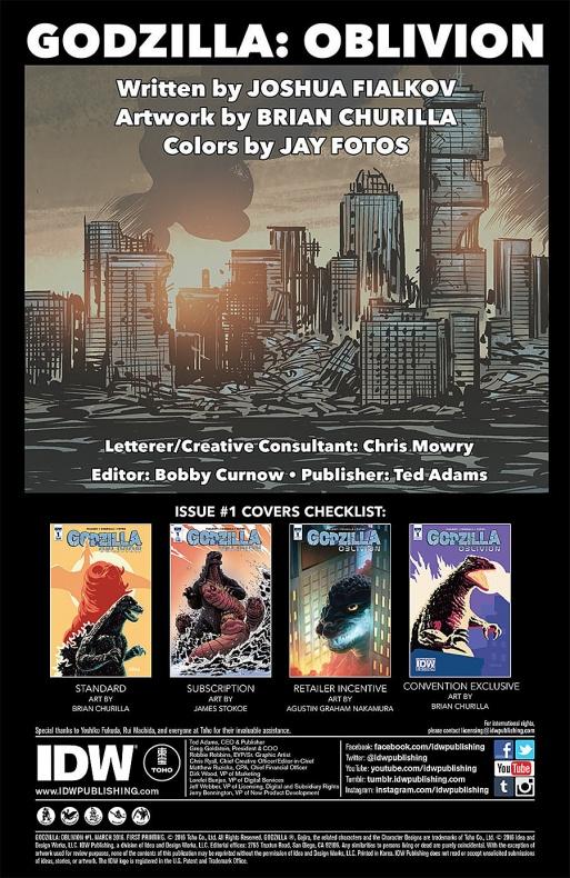 Godzilla Oblivion Página interior (1)