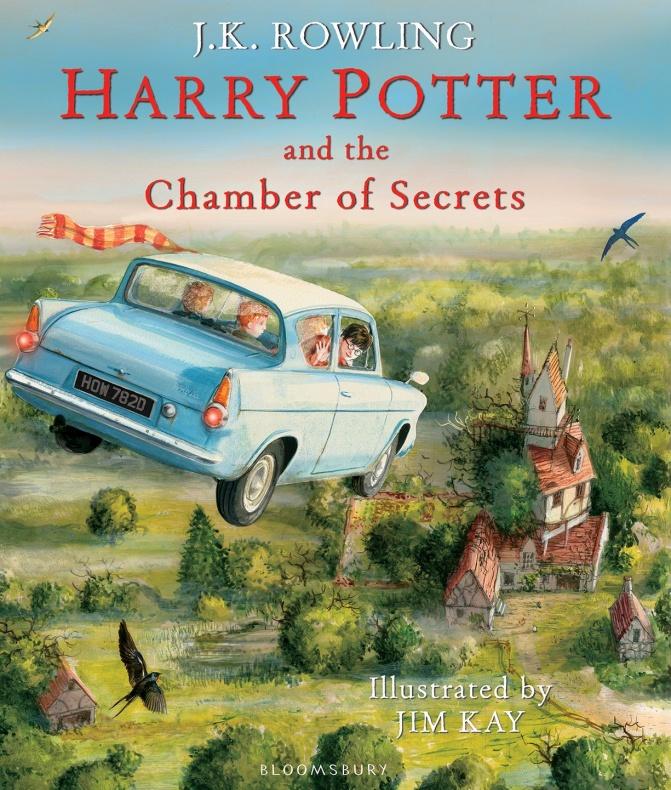 Harry Potter y la cámara secreta ilustrado portada