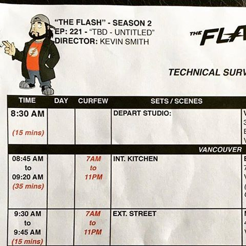 Kevin Smith - The Flash tabla de rodaje