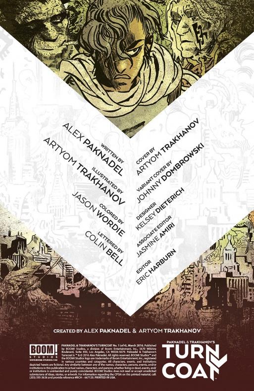 Paknadel & Trakhanov's Turncoat Página interior (1)