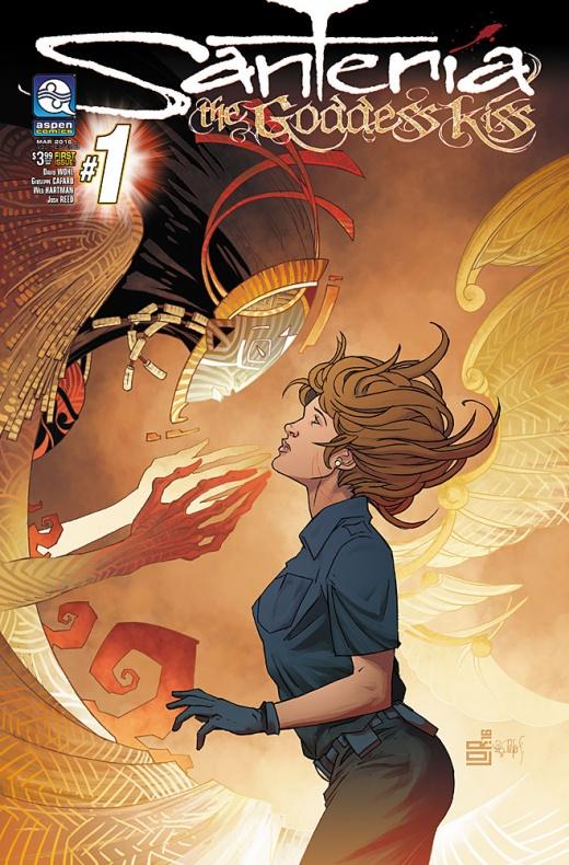 Santeria The Goddess Kiss Portada alternativa de Marco Lorenzana