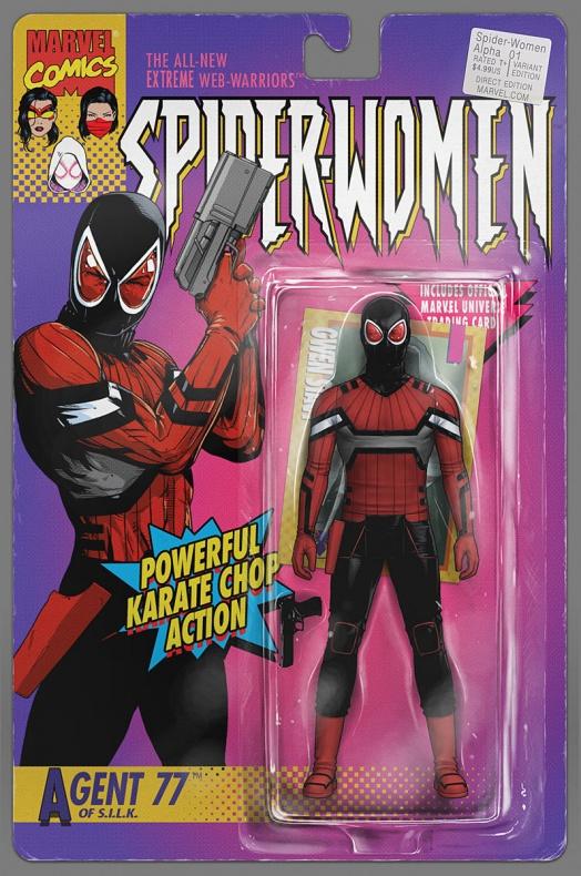 Spider-Women-Alpha Portada figura de acción de John Tyler Christopher