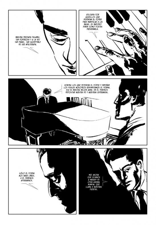 fuga de la muerte, página interior 1