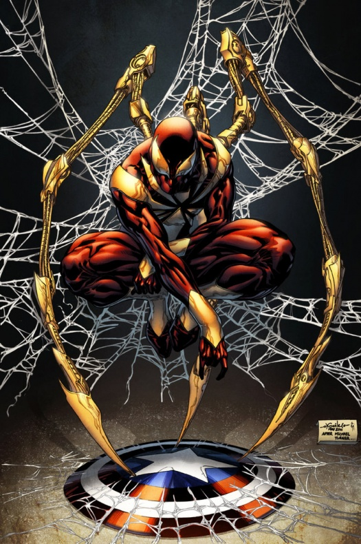 iron spider man simon gough colors by spiderguile d791wlu