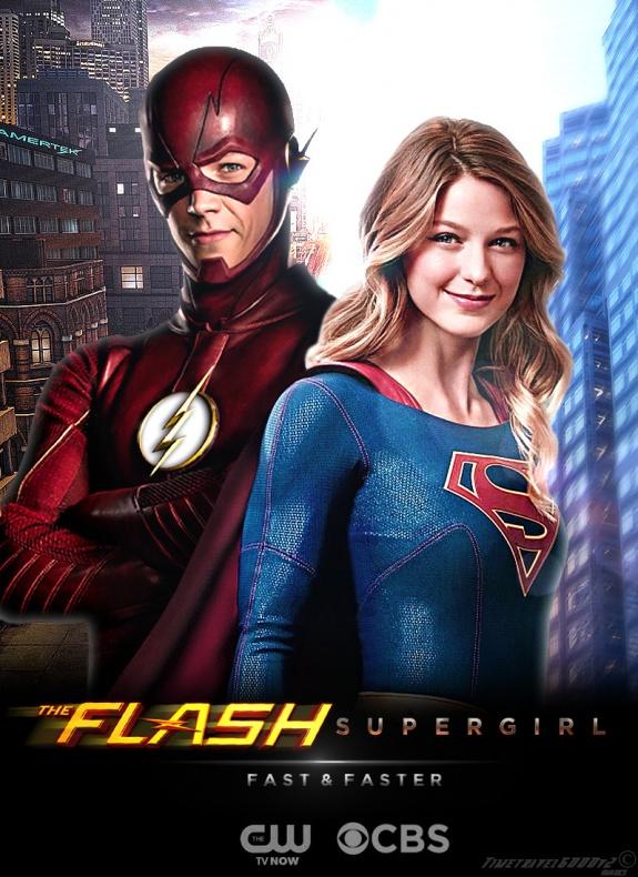 the flash and supergirl tv poster v2 by timetravel6000v2 d9ohtjv