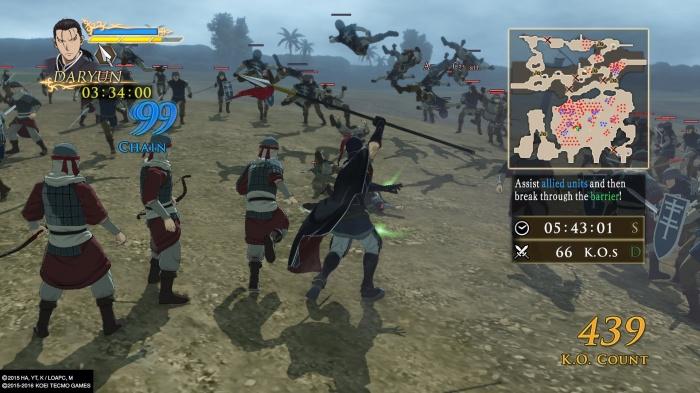 Arslan The Warriors of Legend mapa