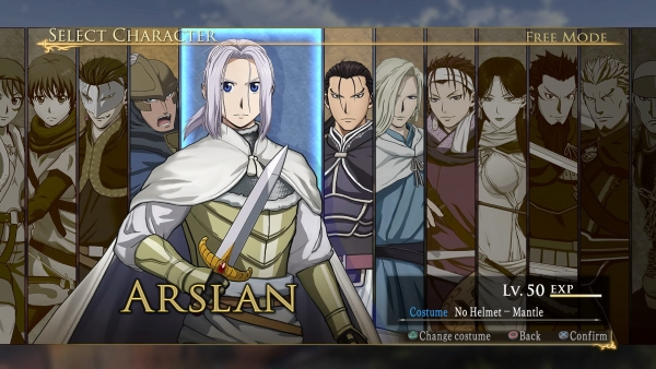 Arslan The Warriors of Legend personajes