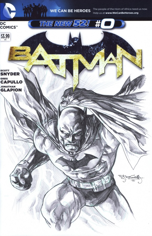 Sketch cover de Batman #0