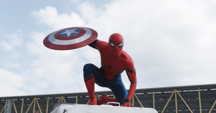 Captain America Civil War Spider Man Shield Official