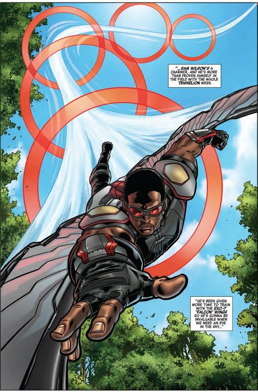 Captain America Road to War Página interior (2)