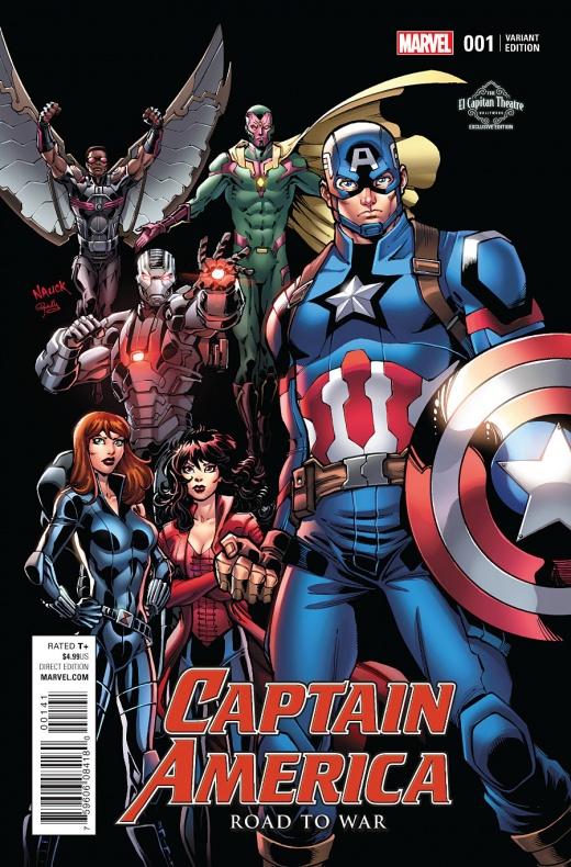 Captain America Road to War Portada alternativa de Todd Nauck