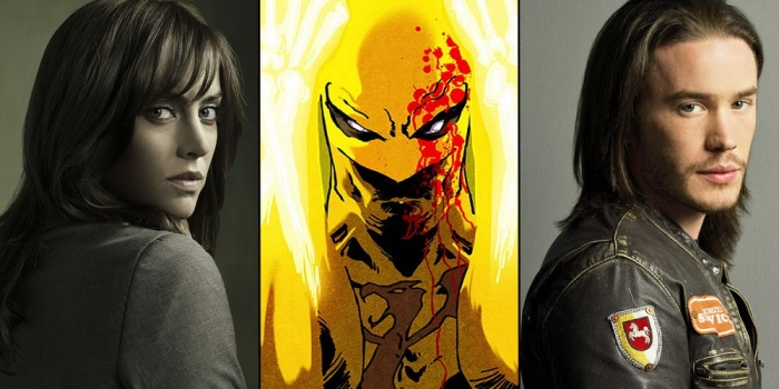 Jessica Stroup and Tom Pelphrey in Iron Fist