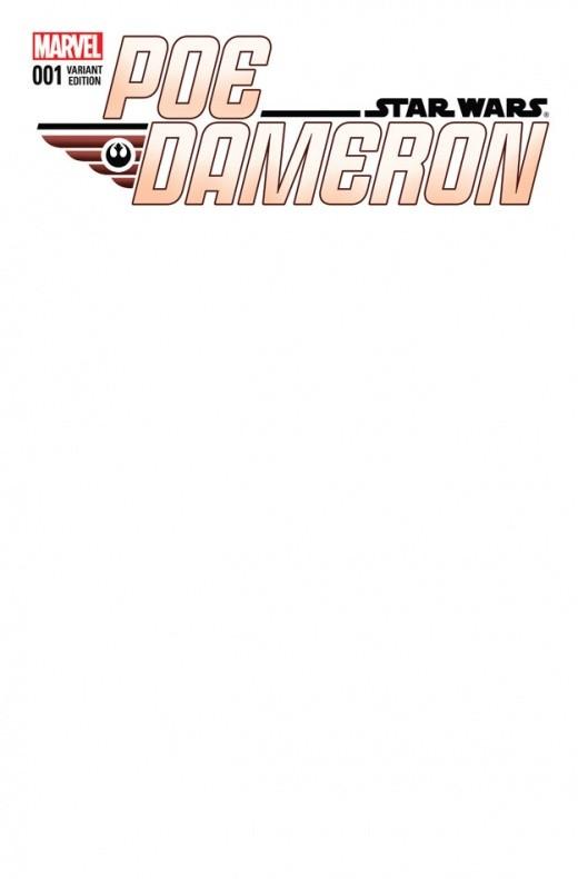 Poe Dameron 1 Blank Variant Cover