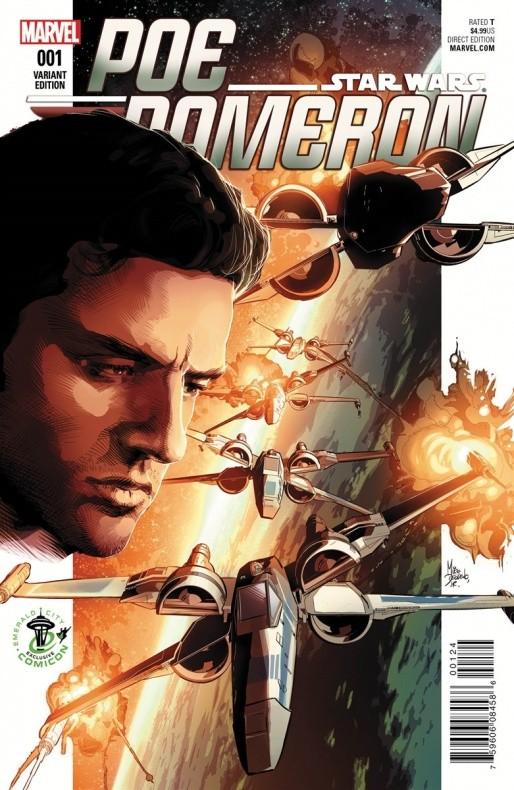 Poe Dameron 1 Mike Deodato Emerald City Comicon Variant Cover