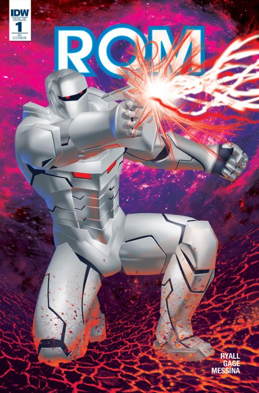 ROM #1, portada de Michael Golden