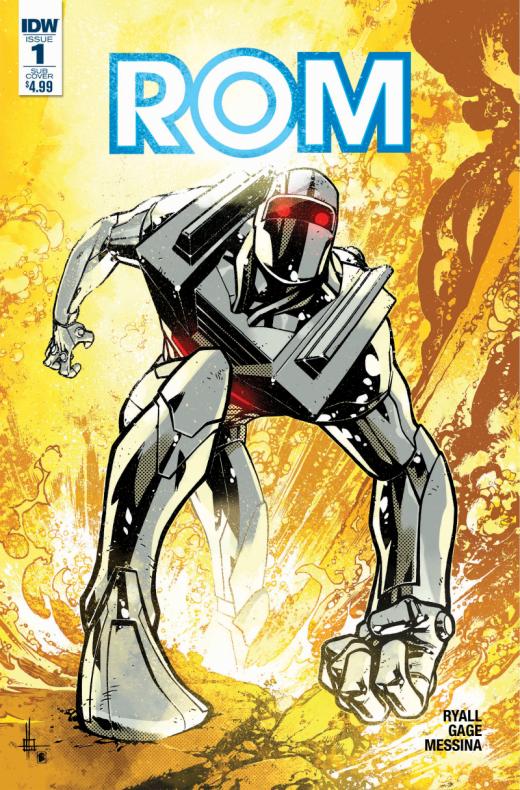 ROM #1, portada de Zach Howard
