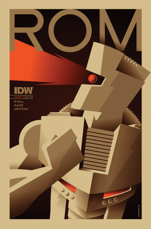 ROM #1, portada de Tom Whalen