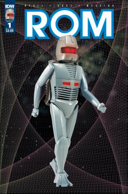 ROM #1, portada con el juguete clásico