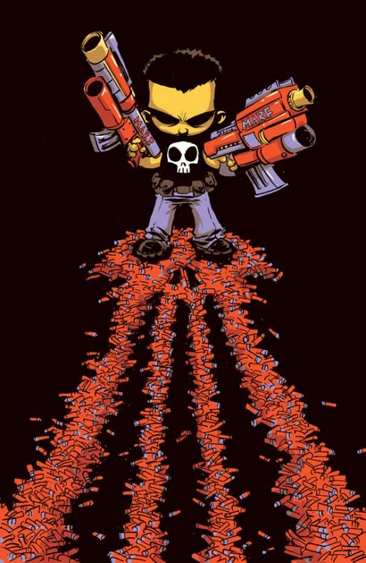 The-Punisher Portada alternativa de Skottie Young