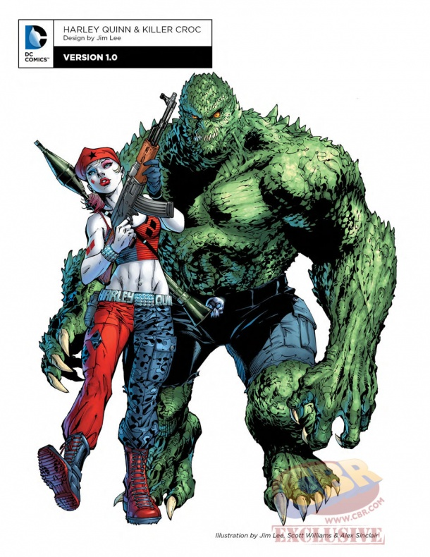 Killer Croc y Harley Quinn