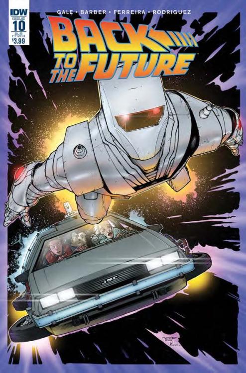 Back To The Future #10, portada de Gerry Kissel