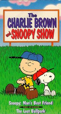 charlie brown snoopy show mans best friend peanuts gang vhs cover art