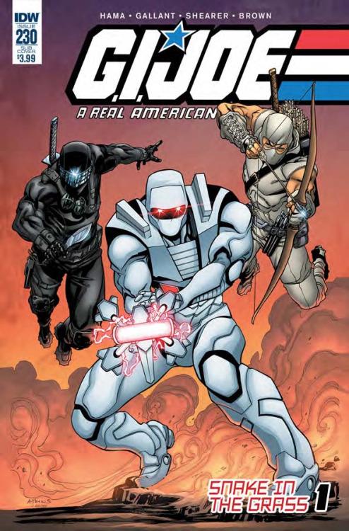 G.I. Joe: A Real American Hero #230, portada de Robert Atkins