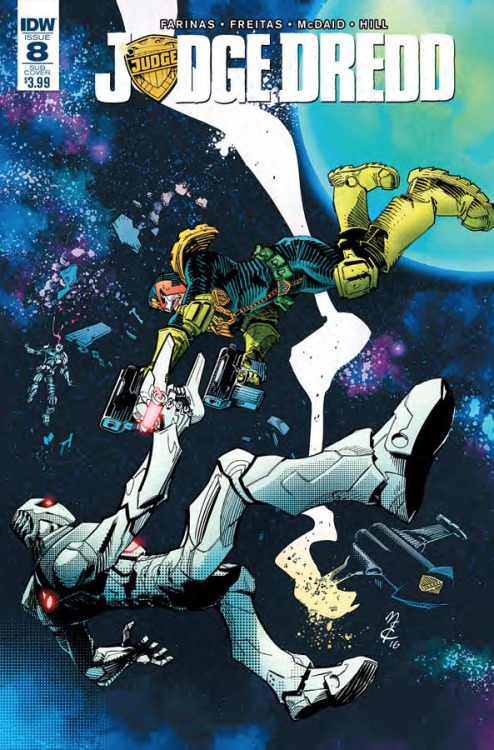 Judge Dredd #8, portada de John McCrea