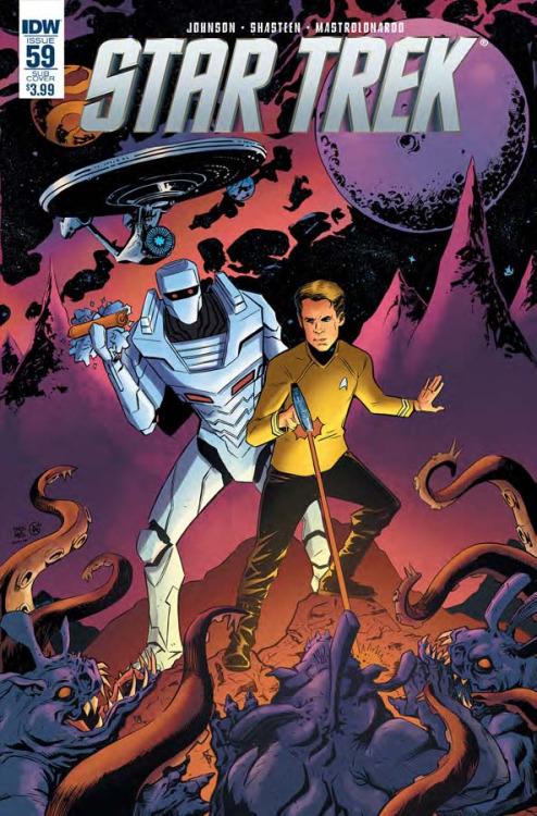 Star Trek #59, portada de Drew Moss