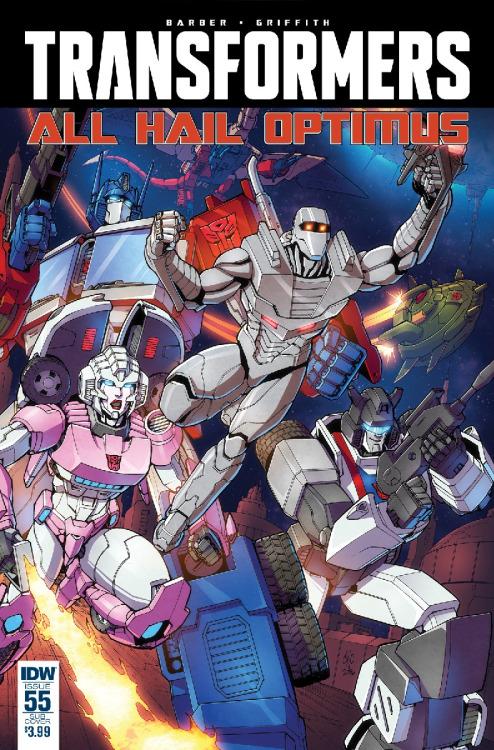 Transformers #55, portada de Casey Coller
