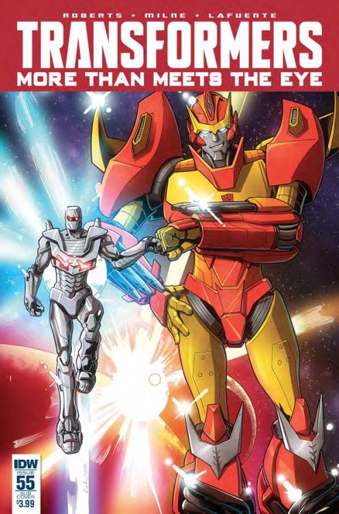 Transformers: More Than Meets The Eye #55, portada de Brendan Cahill