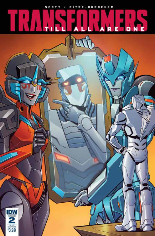 Transformers: Till All Are One #2, portada de Sara Pitre-Durocher