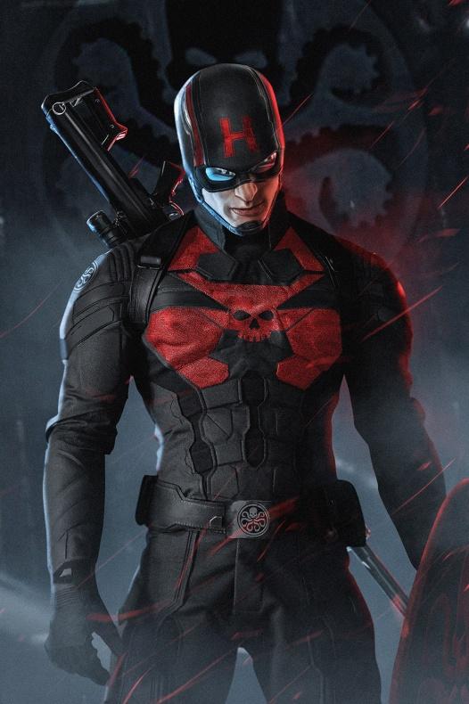 Steve Rogers - Capitán Hydra por BossLogic