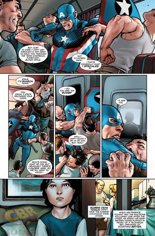 Captain America Steve Rogers Página interior (2)