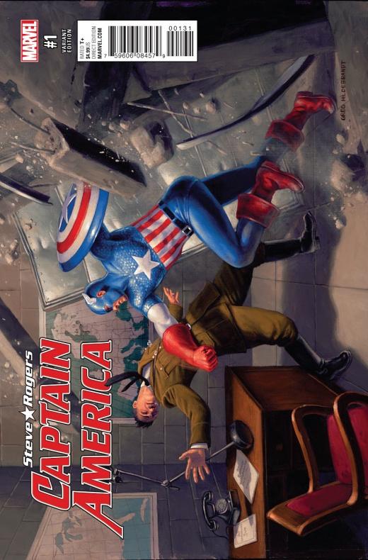 Captain America Steve Rogers Portada alternativa de Greg Hildebrant