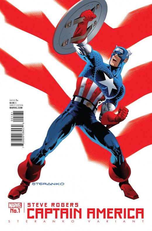 Captain America Steve Rogers Portada alternativa de Jim Steranko