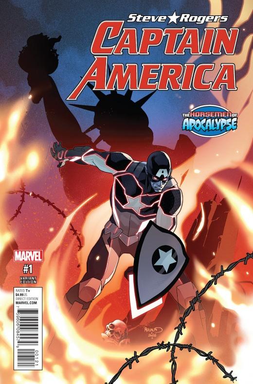 Captain America Steve Rogers Portada alternativa de Paul Renaud