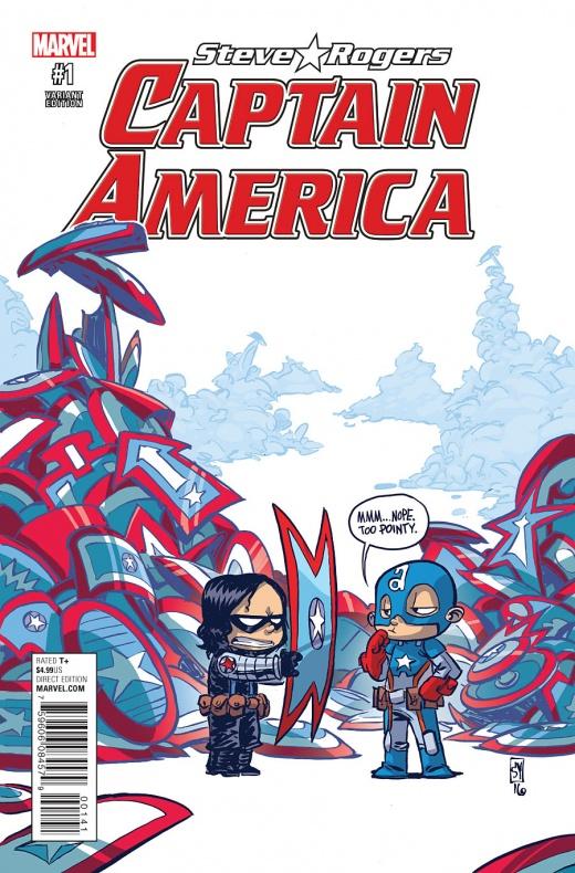 Captain America Steve Rogers Portada alternativa de Skottie Young