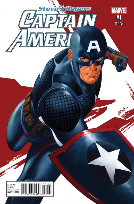 Captain America Steve Rogers Portada alternativa de Steve Epting