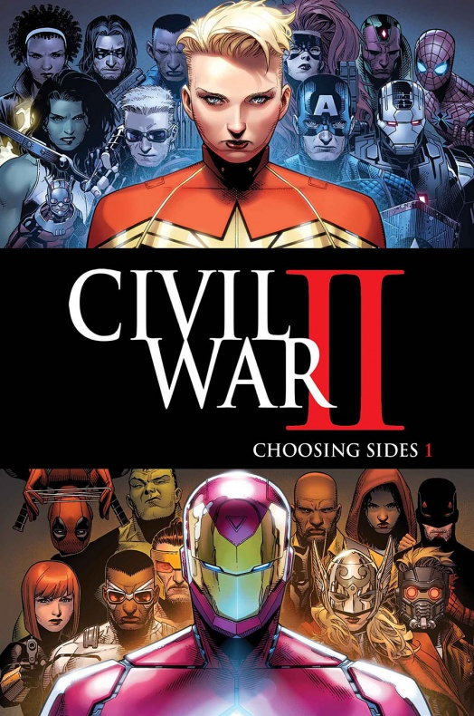 Civil War II Choosing Sides Portada principal de Jim Cheung