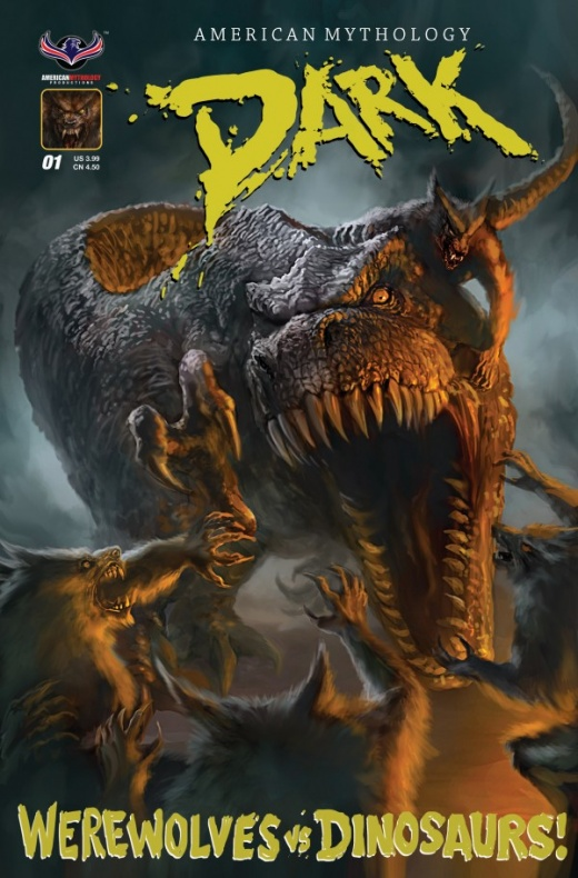Dark Werewolfs vs Dinosaurs Portada (1)
