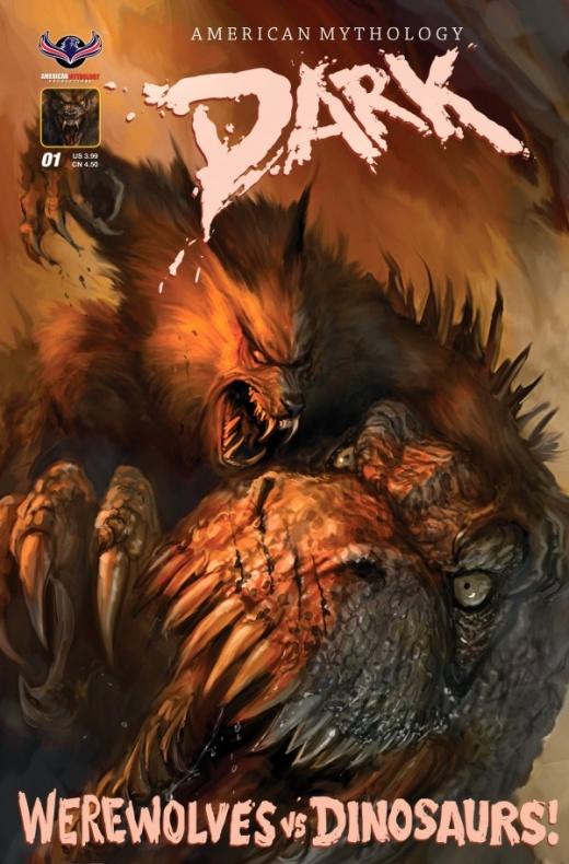 Dark Werewolfs vs Dinosaurs Portada (2)