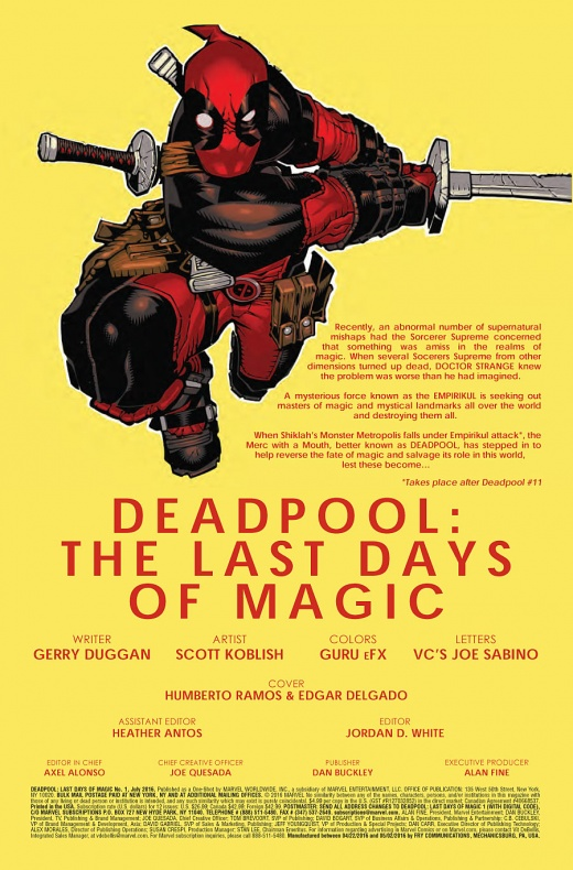 Deadpool Last Days Of Magic Página interior (1)