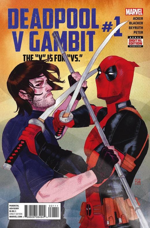 Deadpool v Gambit Portada principal de Kevin Wada