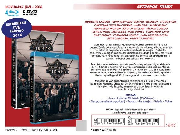 El Ministerio del Tiempo - DVD temporada 2