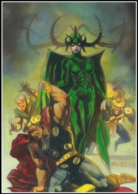 Hela defeats Thor - Alex Horley