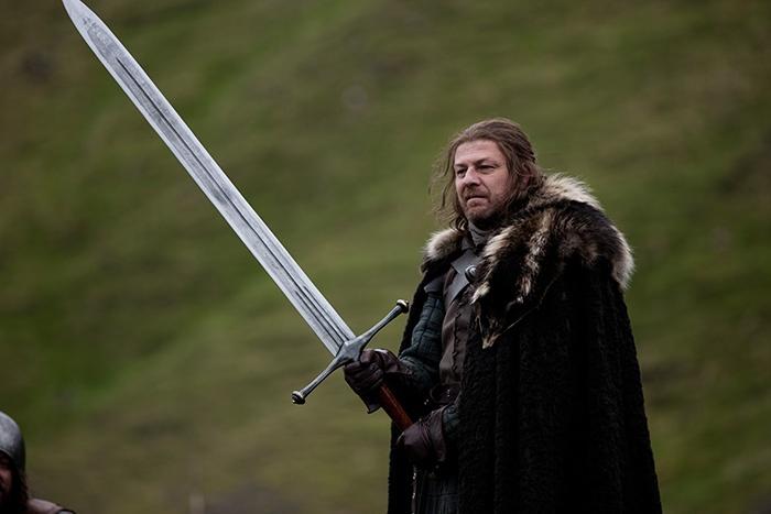 Hielo - Espada de acero valyrio de Juego de Tronos