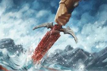 Lluvia Roja - Espada de acero valyrio de Juego de Tronos