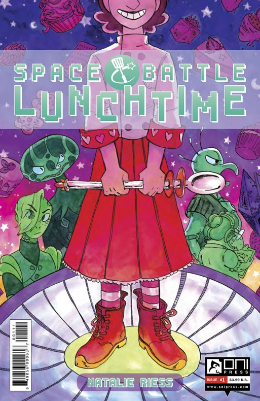 Space Battle Lunchtime Portada principal de Natalie Riess